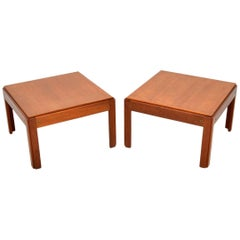 1960s Pair of Vintage Danish Teak Side Tables by Illum Wikkelso