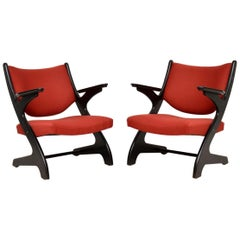1960s Pair of Vintage Italian Armchairs
