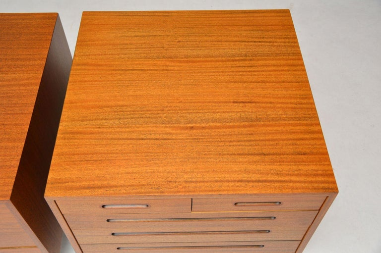 1960s Pair of Vintage Mahogany Chests by Edward Wormley for Dunbar For Sale 5