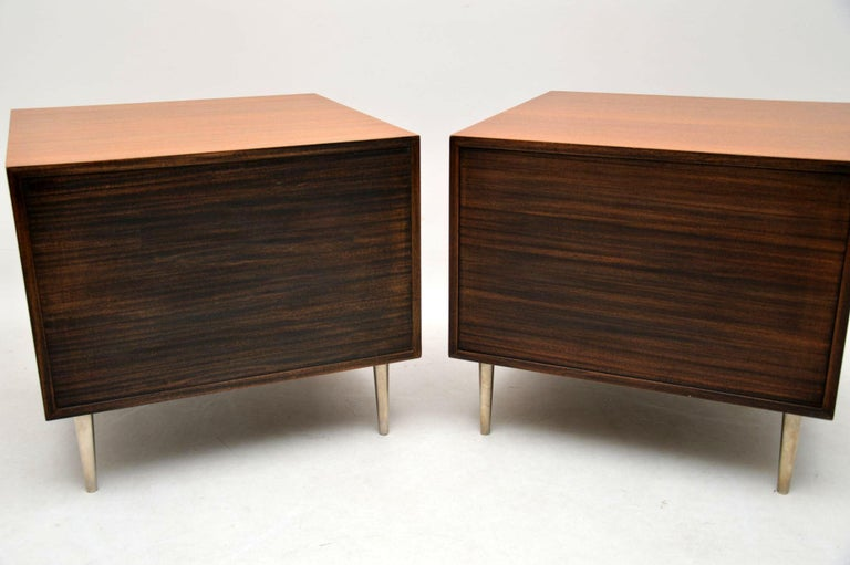 1960s Pair of Vintage Mahogany Chests by Edward Wormley for Dunbar In Good Condition For Sale In London, GB