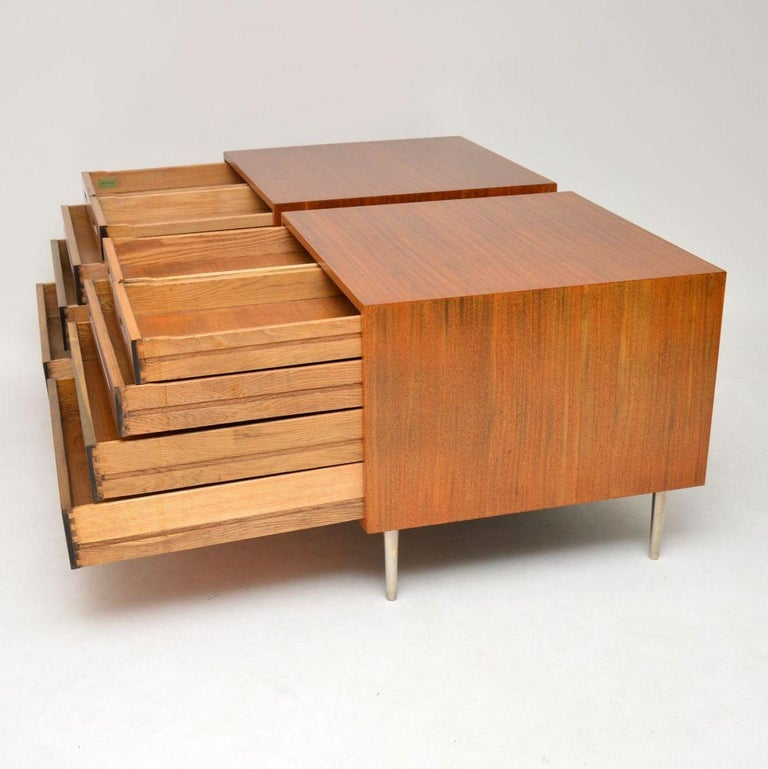 Mid-20th Century 1960s Pair of Vintage Mahogany Chests by Edward Wormley for Dunbar For Sale