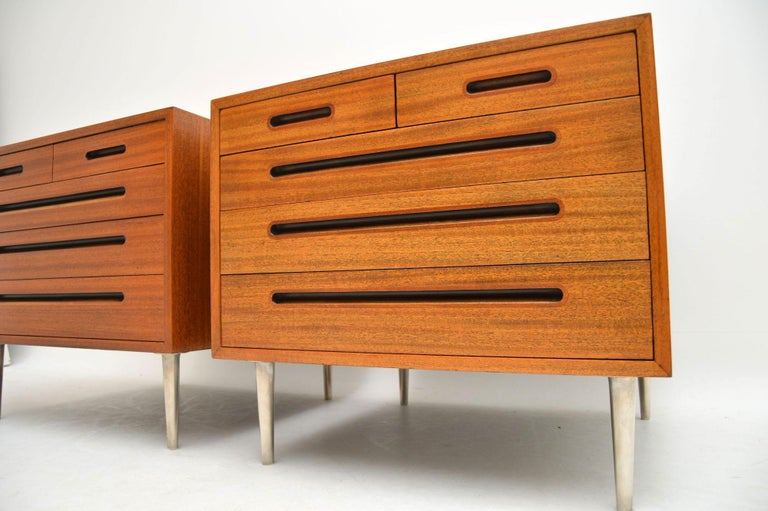 1960s Pair of Vintage Mahogany Chests by Edward Wormley for Dunbar For Sale 2