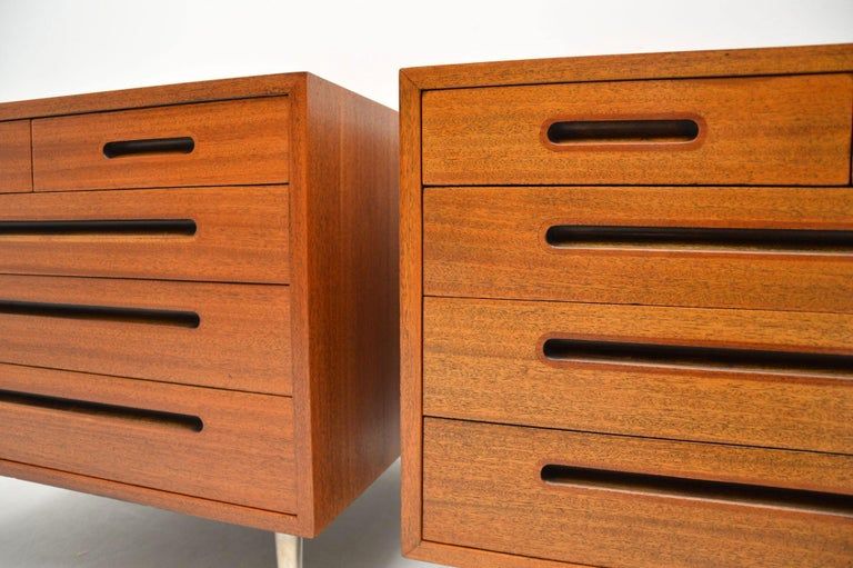 1960s Pair of Vintage Mahogany Chests by Edward Wormley for Dunbar For Sale 3