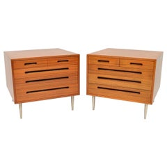 1960s Pair of Vintage Mahogany Chests by Edward Wormley for Dunbar