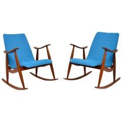 1960s Pair of Vintage Rocking Armchairs by Louis Van Teeffelen