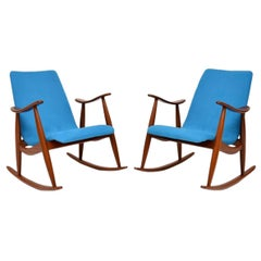1960s Pair of Vintage Rocking Armchairs by Louis Van Teeffelen