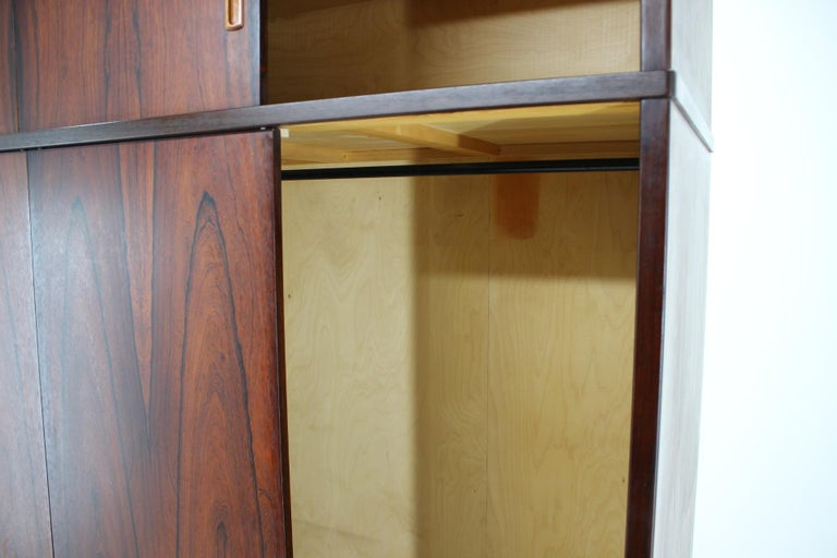 Mid-20th Century 1960s Palisander Wardrobe, Denmark For Sale