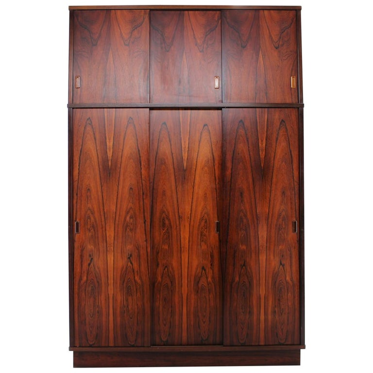 1960s Palisander Wardrobe, Denmark For Sale