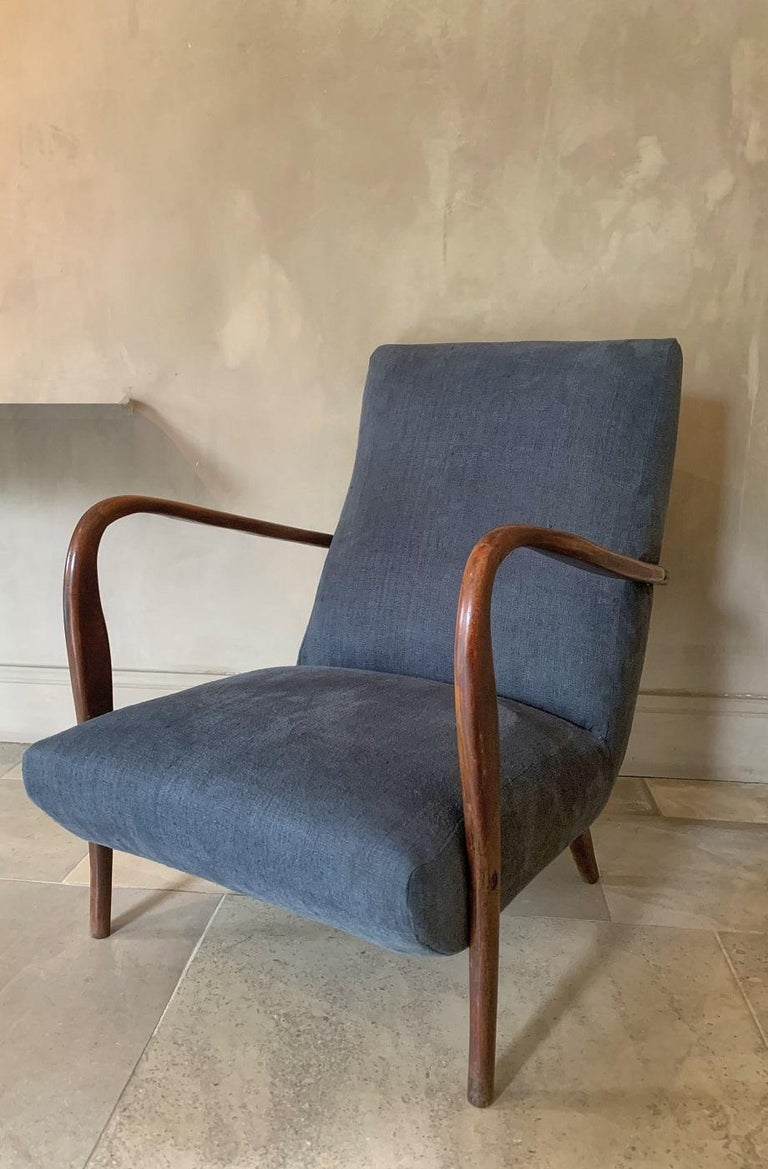 1960s Paola Buffa Style Lounge Chair For Sale 3