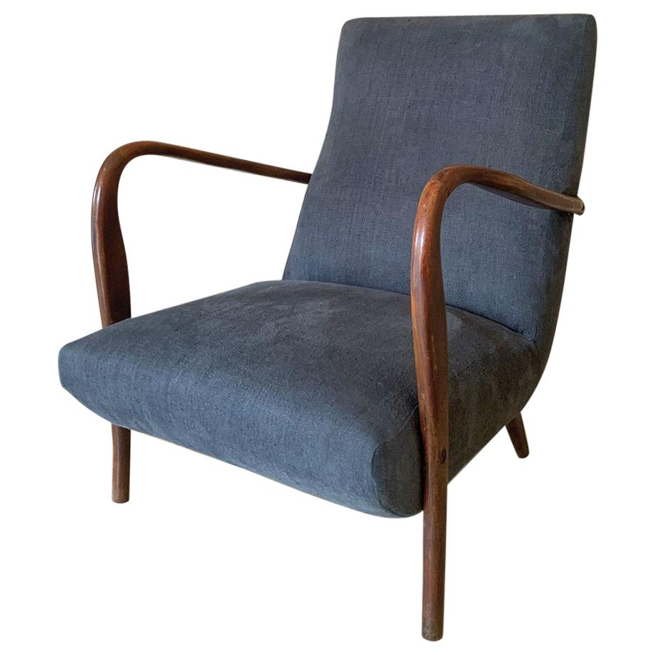 1960s Paola Buffa Style Lounge Chair
