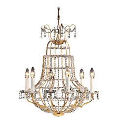 "1960s Midcentury Modern ""Papageno"" Crystal Chandelier -  Bespoke"