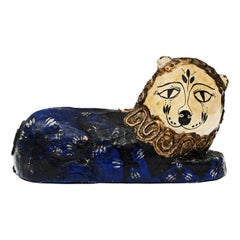 1960s Papier Mâché Folk Art Lion Sculpture