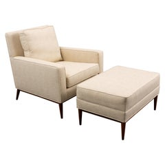 1960's Paul McCobb Lounge Chair with Footstool
