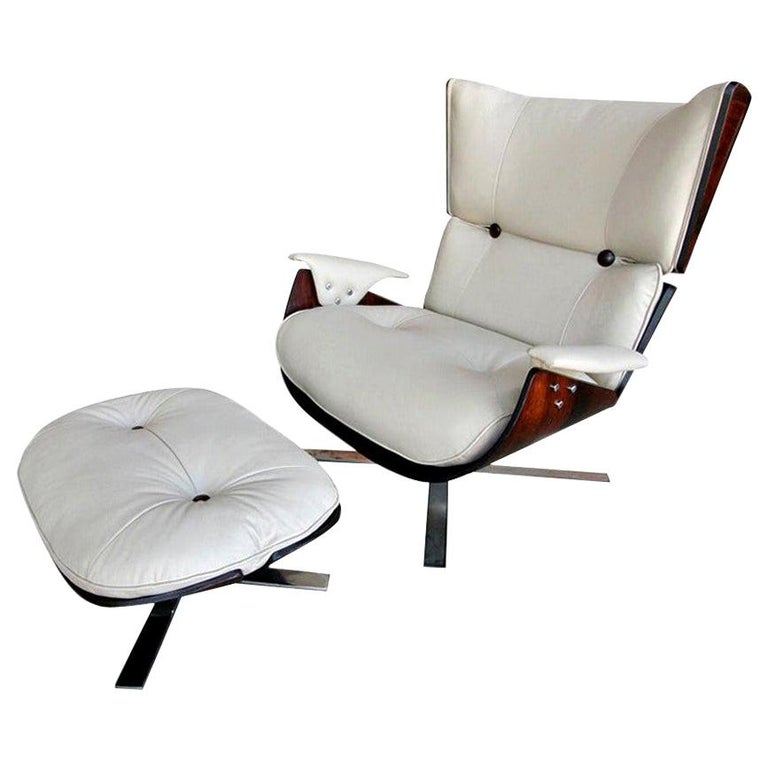 Jorge Zalszupin Paulistana armchair and ottoman, 1960s, offered by Adesso
