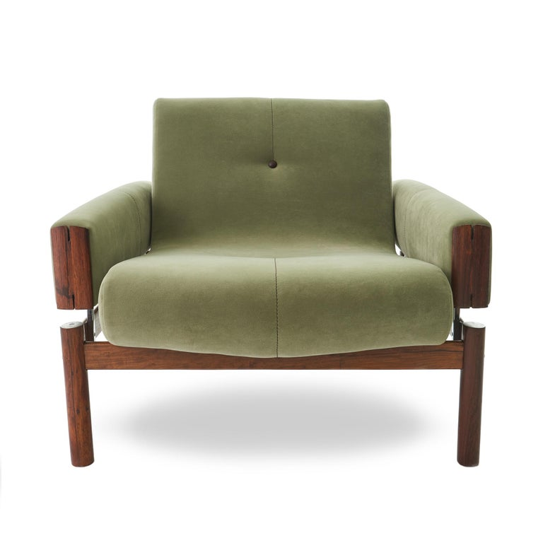Mid-Century Modern 1960s Percival Lafer MP-13 Rosewood Lounge Chair Pair For Sale