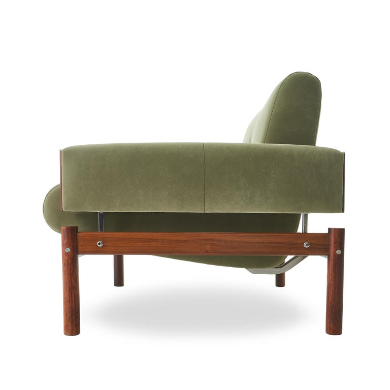 20th Century 1960s Percival Lafer MP-13 Rosewood Lounge Chair Pair For Sale
