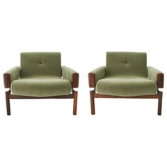 1960s Percival Lafer MP-13 Rosewood Lounge Chair Pair