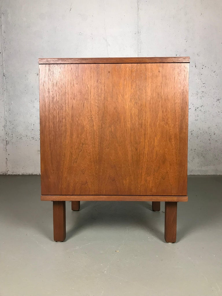 Mid-Century Modern 1960s Petite Low Chest in Walnut by Jens Risom For Sale