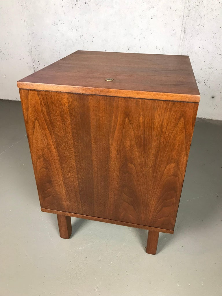 American 1960s Petite Low Chest in Walnut by Jens Risom For Sale
