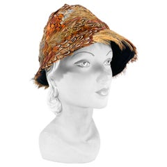 1960s Pheasant Feathered Hat