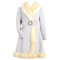 1960s Pierre Balmain Boutique trimmed with shearling vintage wool coat