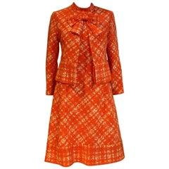 1960s Pierre Balmain Orange Dress and Jacket