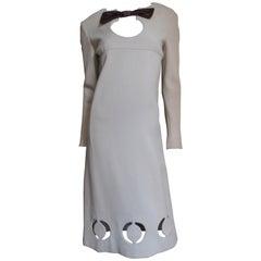 1960s Pierre Cardin Circle Cutouts Midi Dress