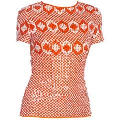 Orange Blouses