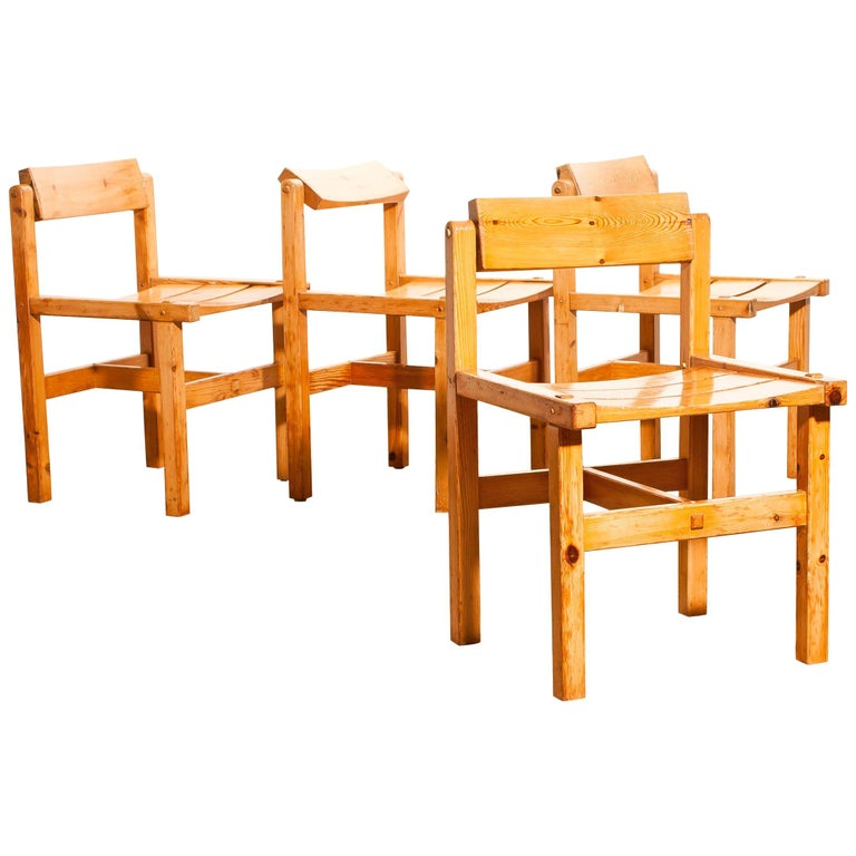 Very nice set of four chairs designed by Edvin Helseth.
