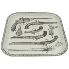 1960s Pistol Barware Serving Tray Attributed to Piero Fornasetti