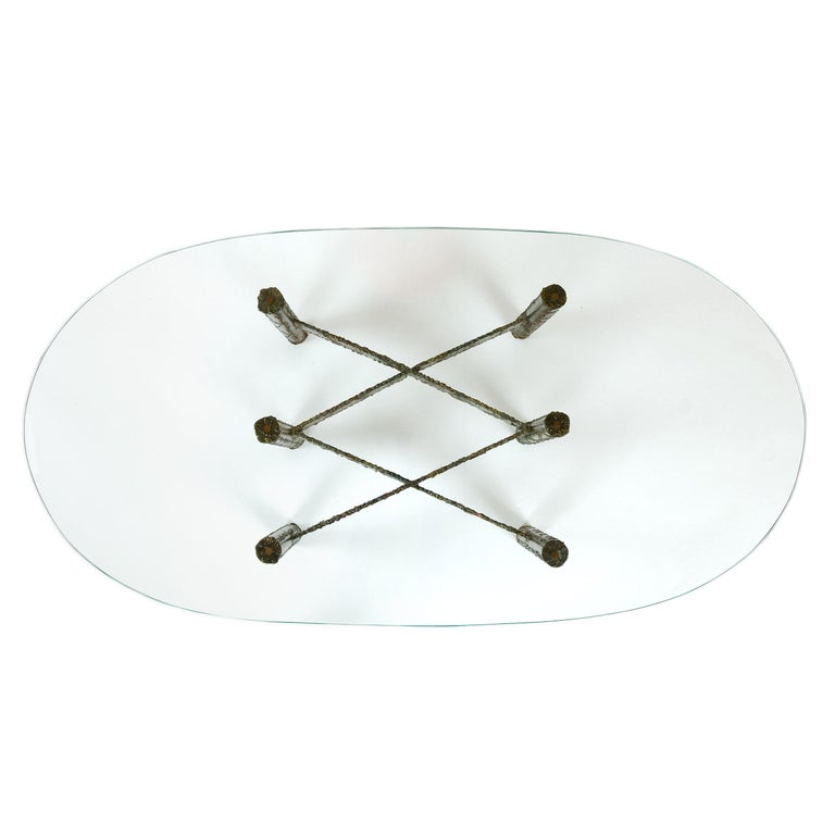 Mid-20th Century 1960s Polychromed Steel Coffee or Cocktail Table by Paul Evans For Sale