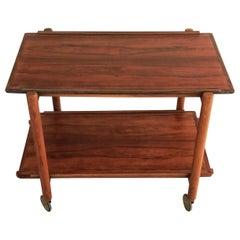 1960s Poul Hundevad Multi Functional Danish Modular Rosewood Bar Table