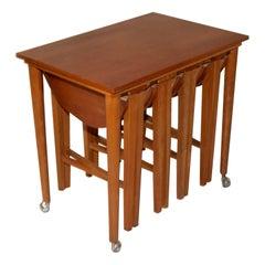 1960s Poul Hundevad Nesting Tables for Nový Domov Czechoslovakia