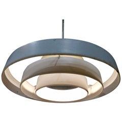 1960s Prescolite 'Saturn' Ring Pendant Light