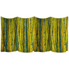 "1960s ""Primavera"" Velvet Curtains by Don Wight for Jack Lenor Larsen"