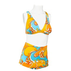 1960s Psychedelic Printed Bathing Suit
