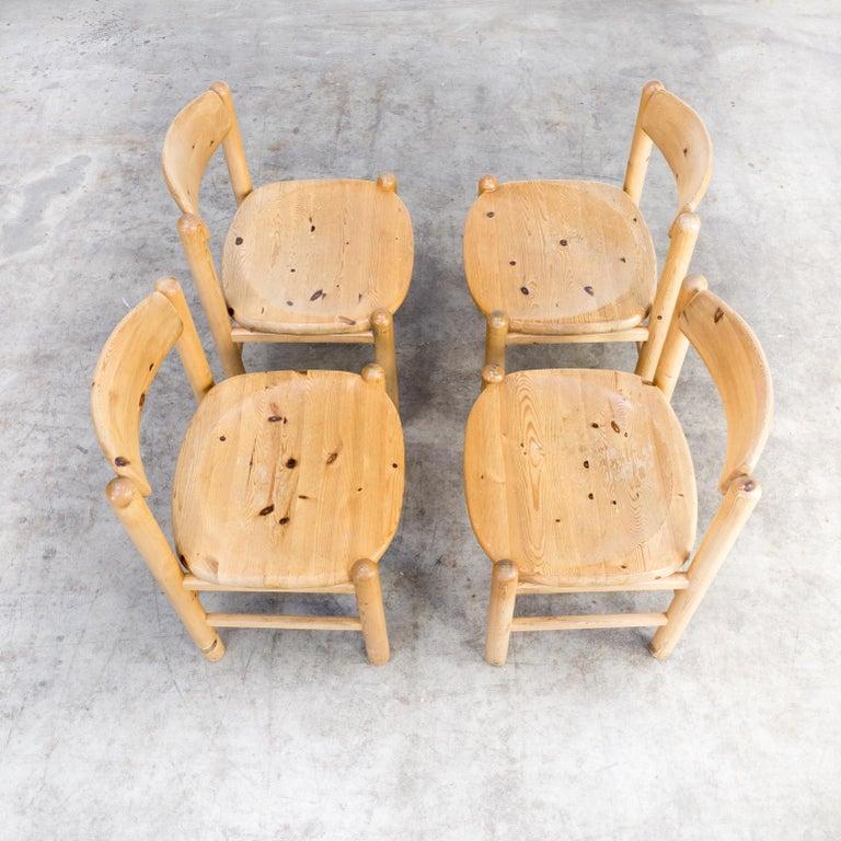 1960s Rainer Daumiller Pine Wood Dining Chair Set of 4 5
