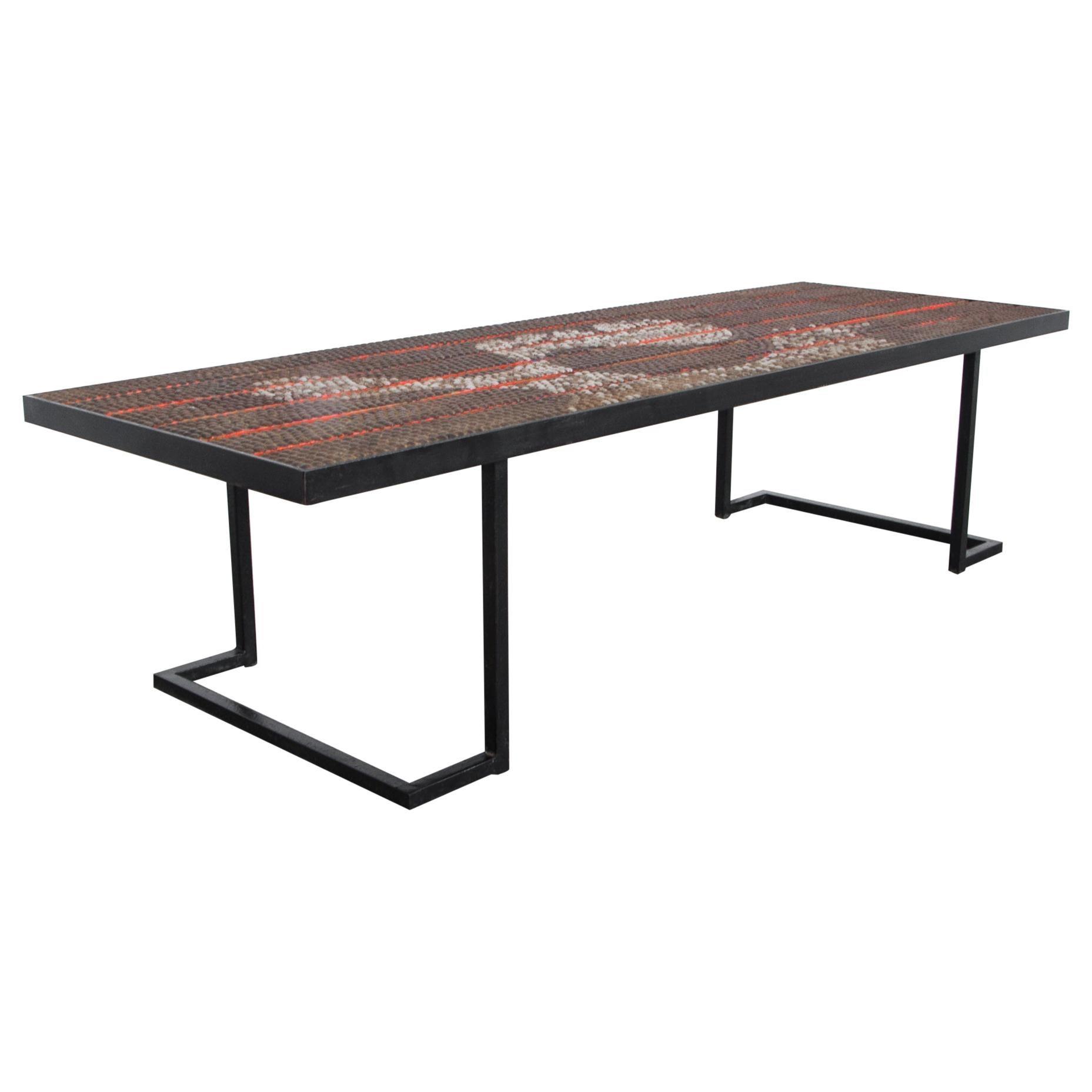 1960s Rare Midcentury Metal Coffee Table
