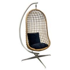 1960s Rattan Swing Chair