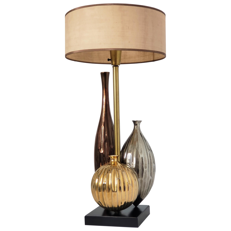 1960s Huge Raymor Style Ceramic Table Lamp, USA