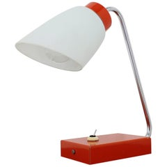 1960s Red Table Lamp by Lidokov, Czechoslovakia