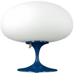 1960s Retro Modern Laurel Blue Mushroom Table Lamp Kids Room