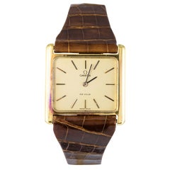 1960s Retro Omega De Ville 18 Karat Gold Men's Watch