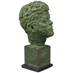 1960s Robert Berks Unique Sculpture of John F Kennedy JFK Bust Miami Beach Award