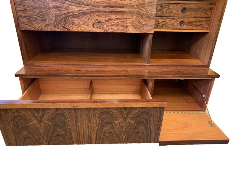 1960s Robert Heritage for Archie Shine Rosewood Wall Unit for Heals British Made For Sale 1