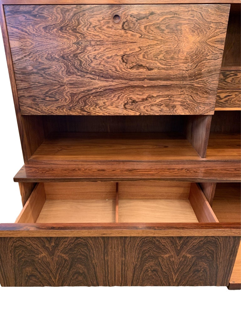 1960s Robert Heritage for Archie Shine Rosewood Wall Unit for Heals British Made For Sale 2