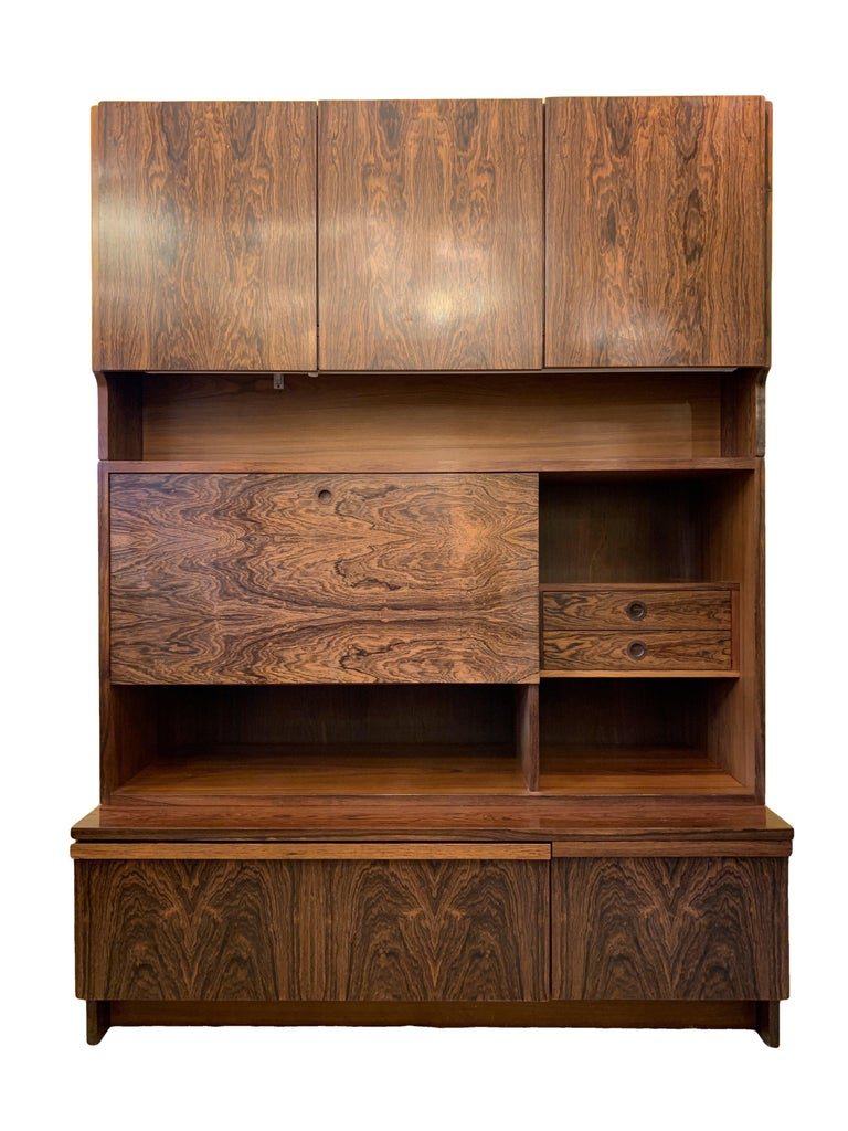 1960s Robert Heritage for Archie Shine Rosewood Wall Unit for Heals British Made For Sale 3