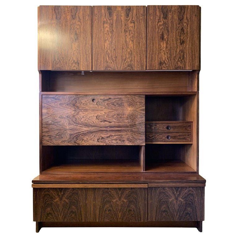 1960s Robert Heritage for Archie Shine Rosewood Wall Unit for Heals British Made For Sale