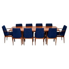 1960s Robert Heritage for Archie Shine Teak Dining Table and Chairs