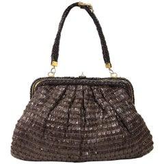 1960s Roberta Di Camerino Brown Leather Vintage Bag